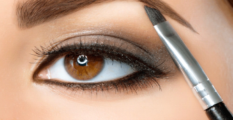 shape your eyebrows with make up