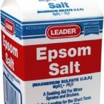 Natural remedies for anemia - Epsom salt